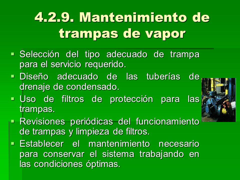 4.2.9. Mantenimiento de trampas de vapor