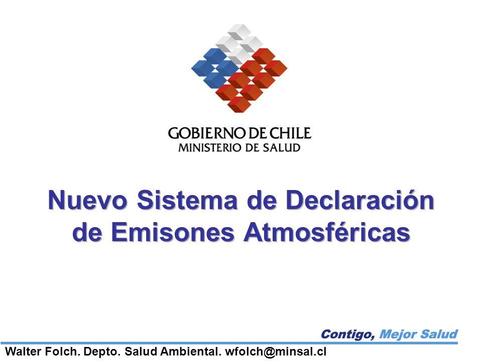 Nuevo Sistema de Declaración de Emisones Atmosféricas