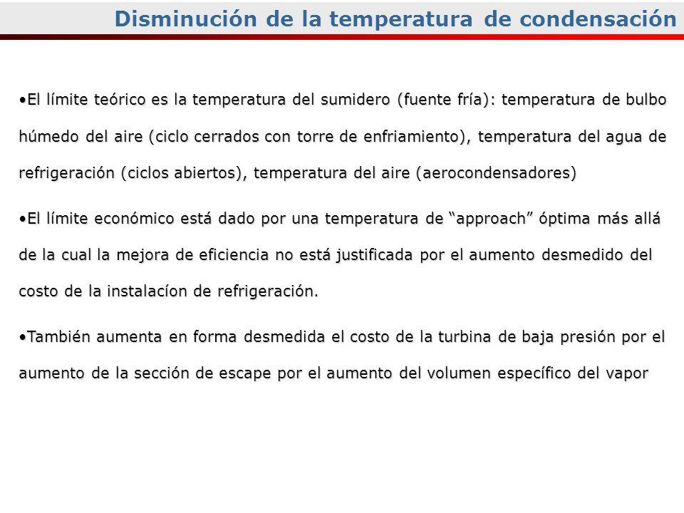 Disminución de la temperatura de condensación