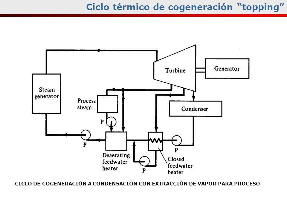 Ciclo térmico de cogeneración topping