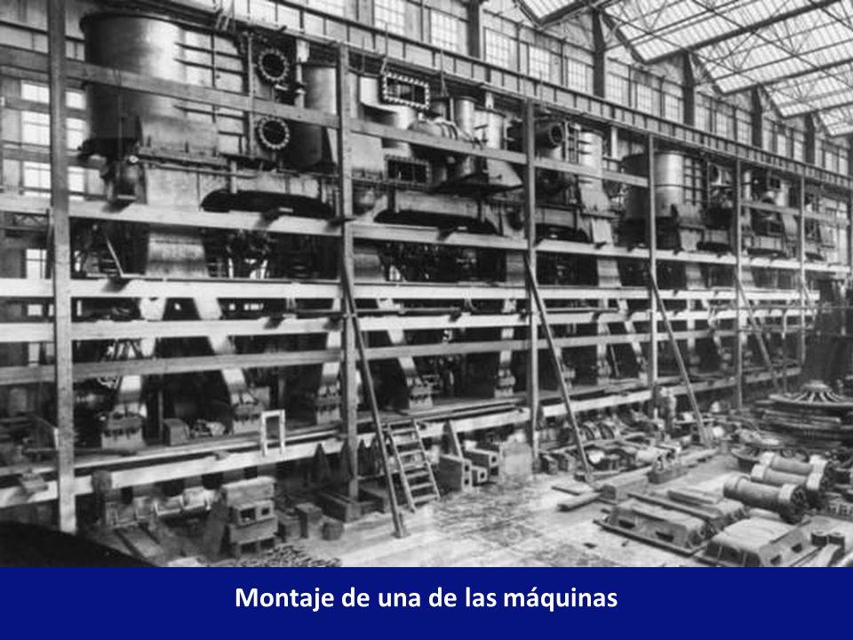 Montaje de una de las máquinas