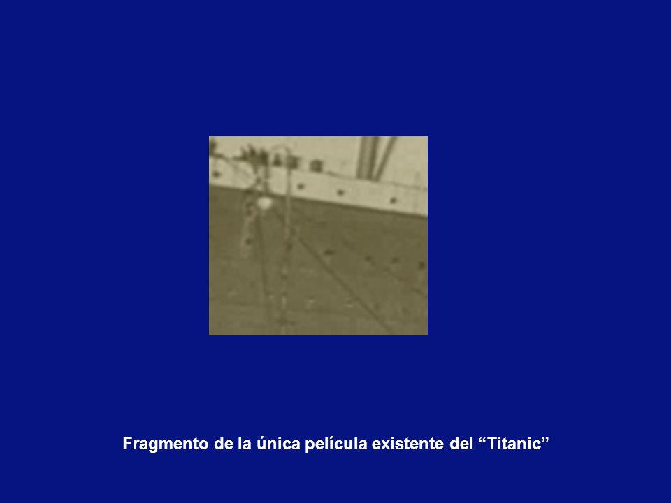 Fragmento de la única película existente del Titanic