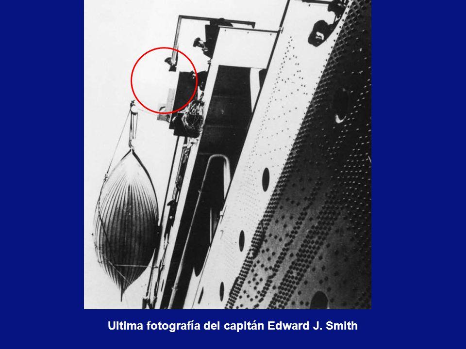 Ultima fotografía del capitán Edward J. Smith