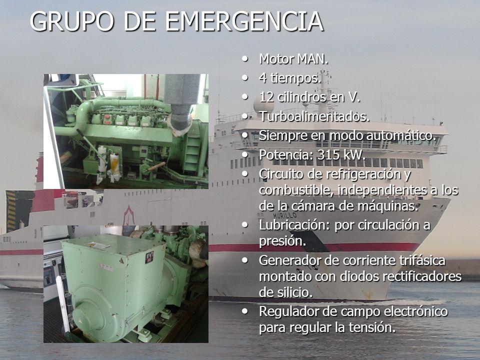 GRUPO DE EMERGENCIA Motor MAN. 4 tiempos. 12 cilindros en V.