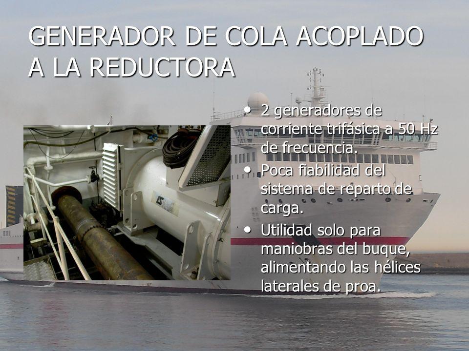 GENERADOR DE COLA ACOPLADO A LA REDUCTORA