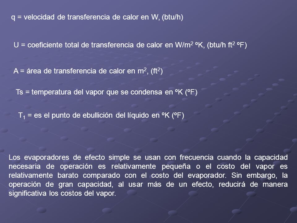 q = velocidad de transferencia de calor en W, (btu/h)