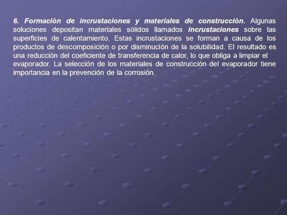 6. Formación de incrustaciones y materiales de construcción