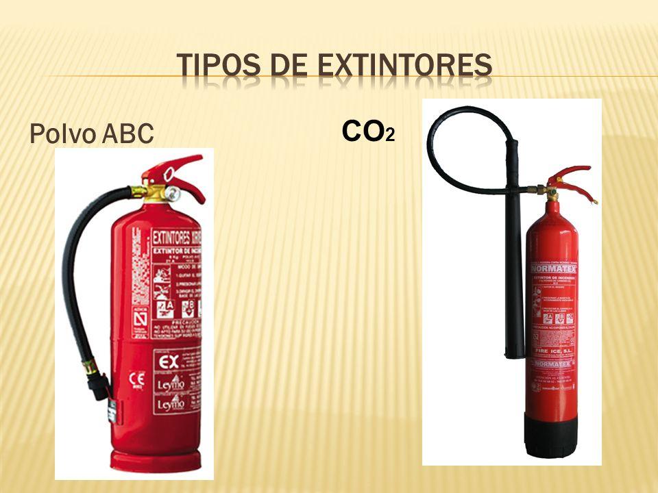 Tipos de extintores Polvo ABC CO2