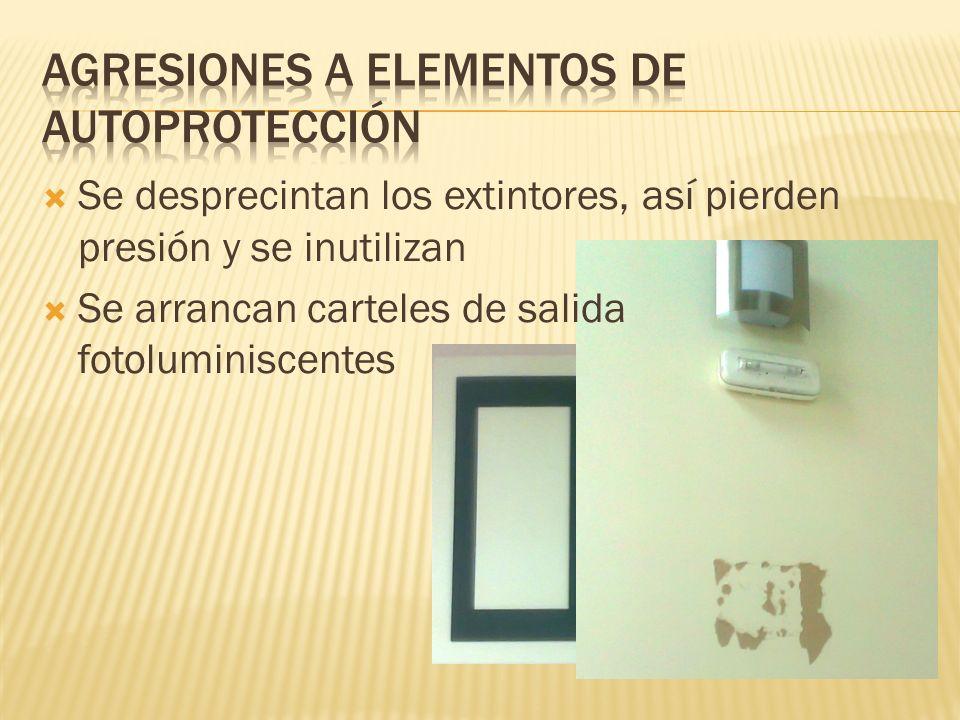Agresiones a elementos de autoprotección