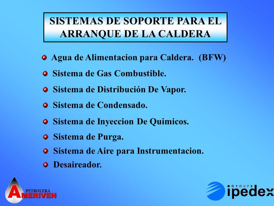 SISTEMAS DE SOPORTE PARA EL ARRANQUE DE LA CALDERA