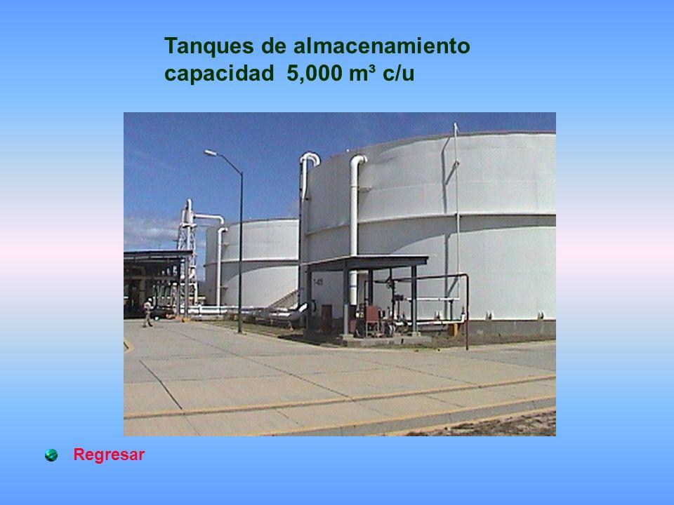 Tanques de almacenamiento capacidad 5,000 m³ c/u