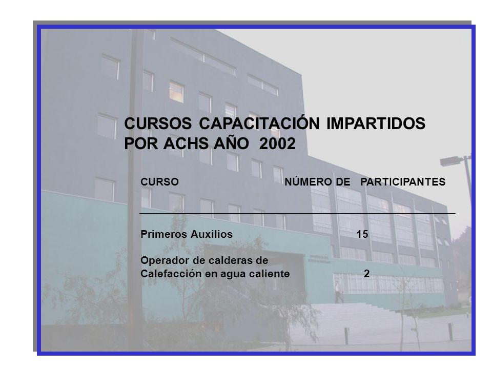 CURSOS CAPACITACIÓN IMPARTIDOS POR ACHS AÑO 2002