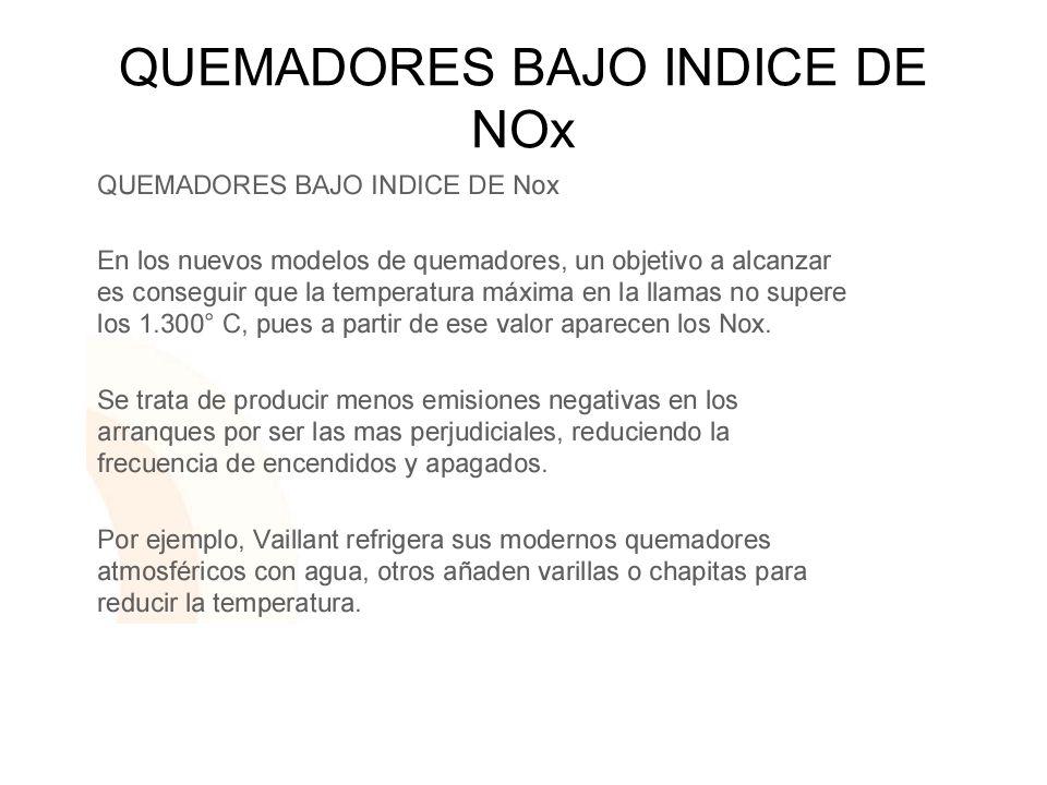 QUEMADORES BAJO INDICE DE NOx