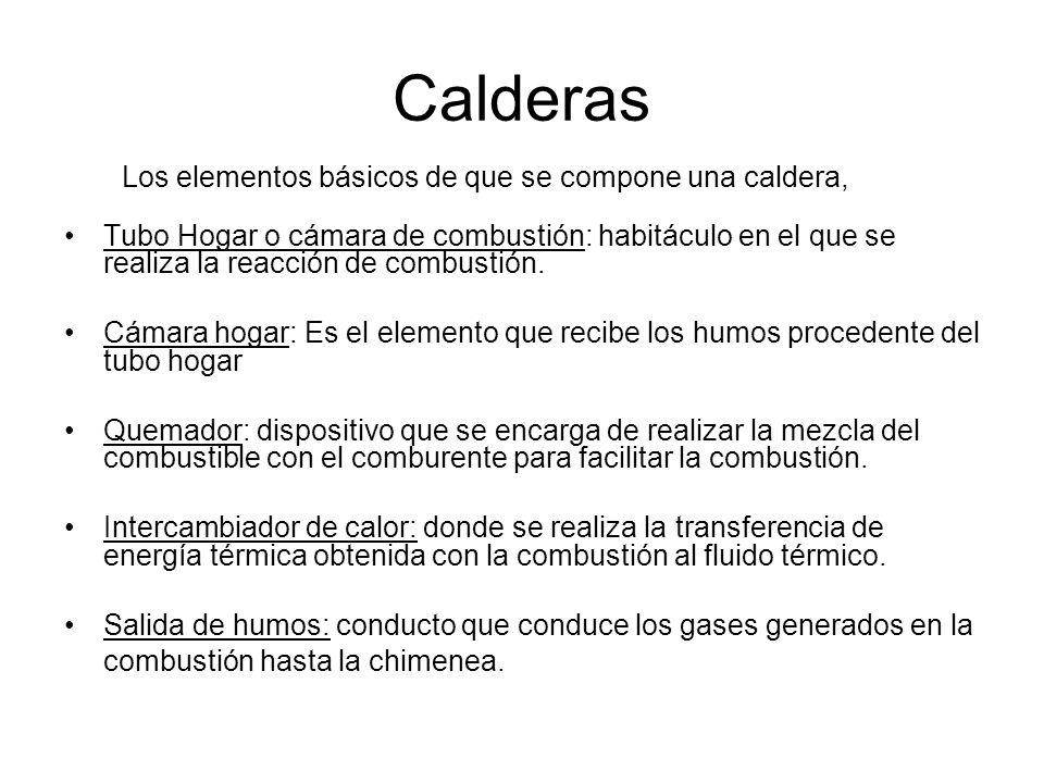 Calderas Los elementos básicos de que se compone una caldera,