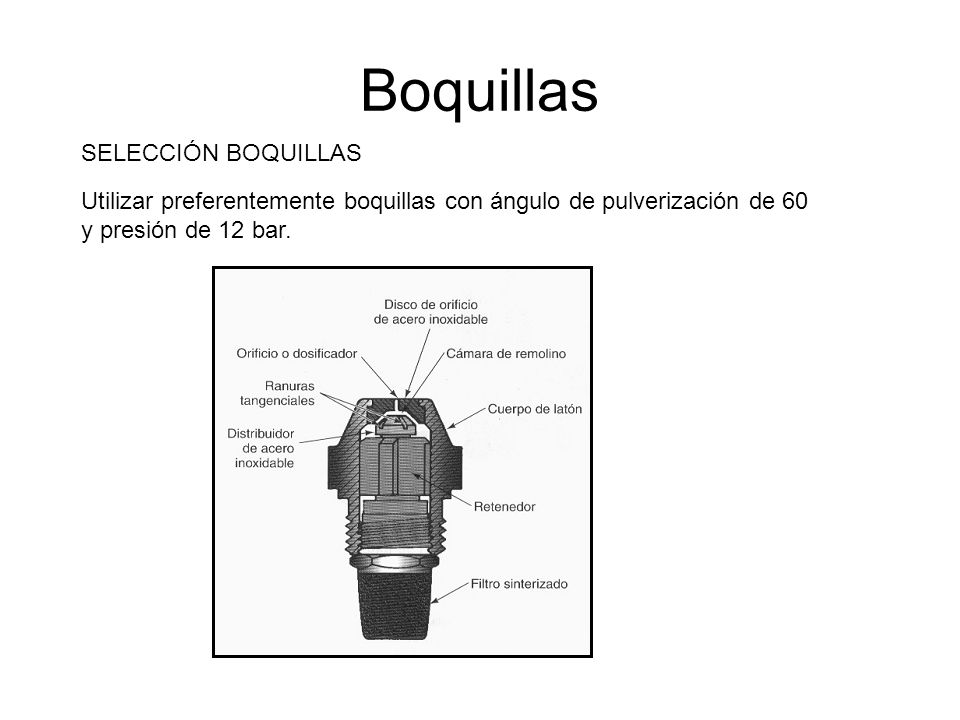 Boquillas SELECCIÓN BOQUILLAS