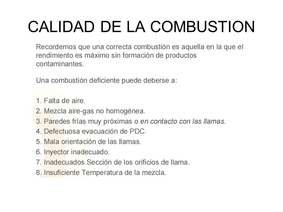 CALIDAD DE LA COMBUSTION