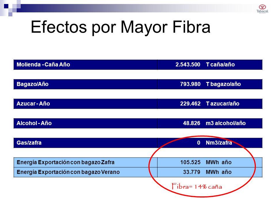 Efectos por Mayor Fibra