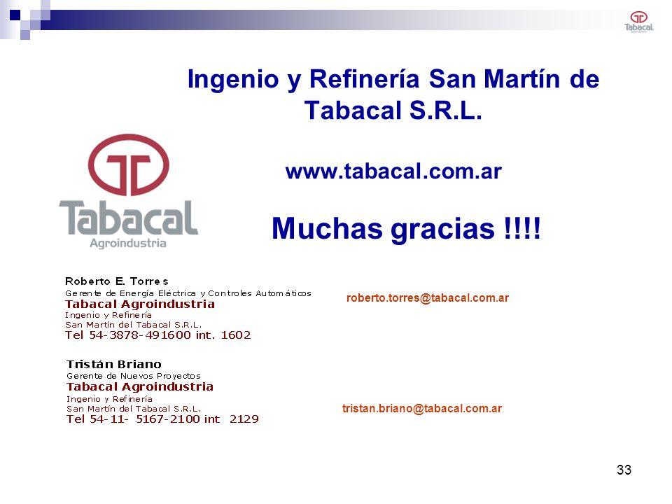 Ingenio y Refinería San Martín de Tabacal S.R.L. www.tabacal.com.ar