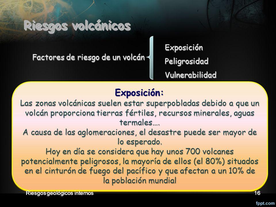 Riesgos volcánicos Exposición: