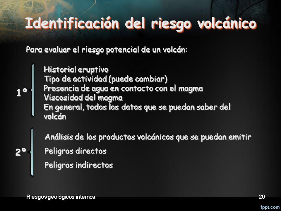 Identificación del riesgo volcánico