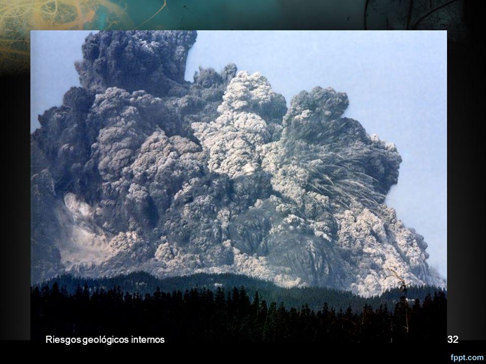 Riesgos geológicos internos Riesgos geológicos internos 32