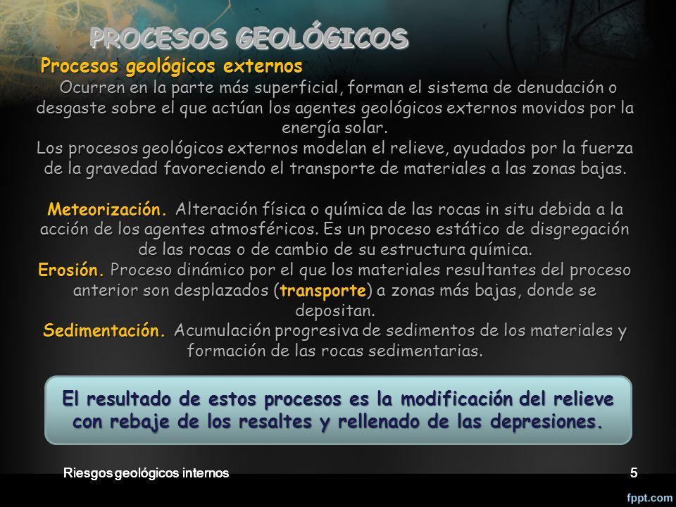PROCESOS GEOLÓGICOS Procesos geológicos externos.