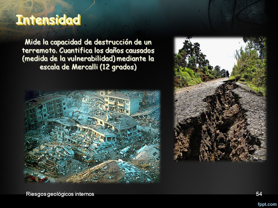 Riesgos geológicos internos