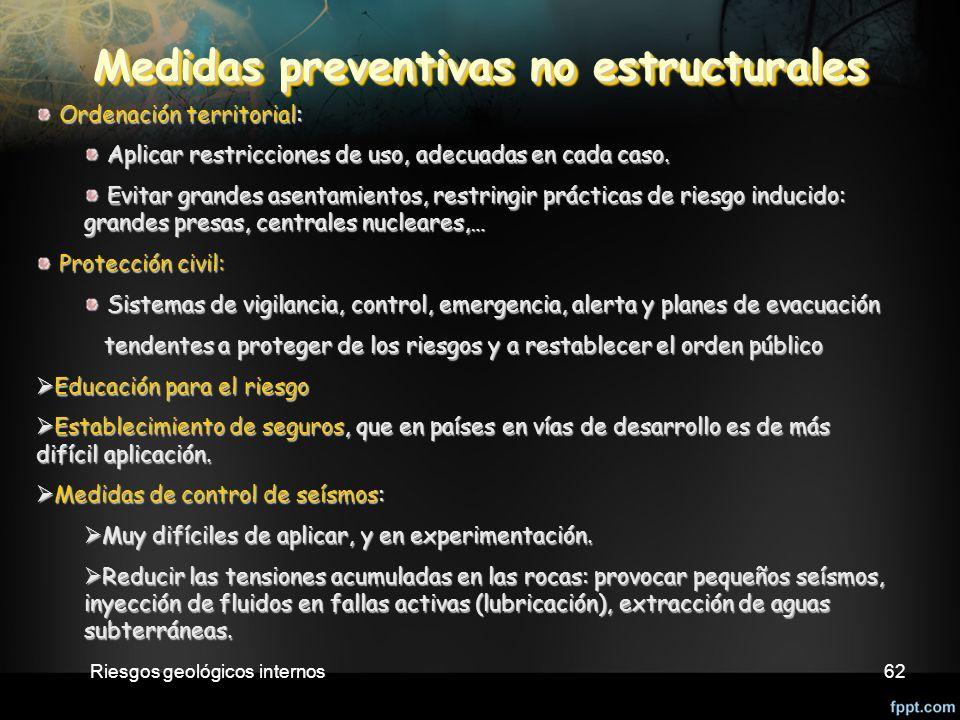 Medidas preventivas no estructurales