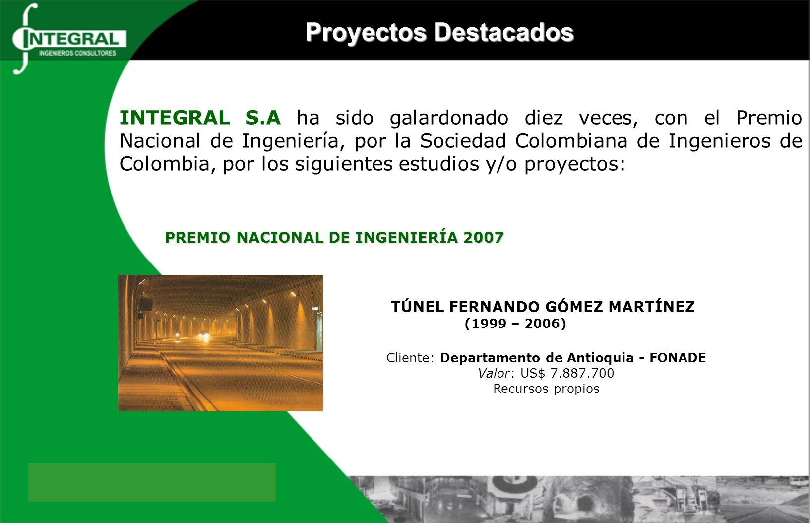 TÚNEL FERNANDO GÓMEZ MARTÍNEZ