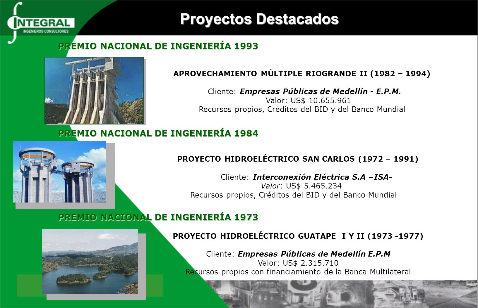 PROYECTO HIDROELÉCTRICO SAN CARLOS (1972 – 1991)