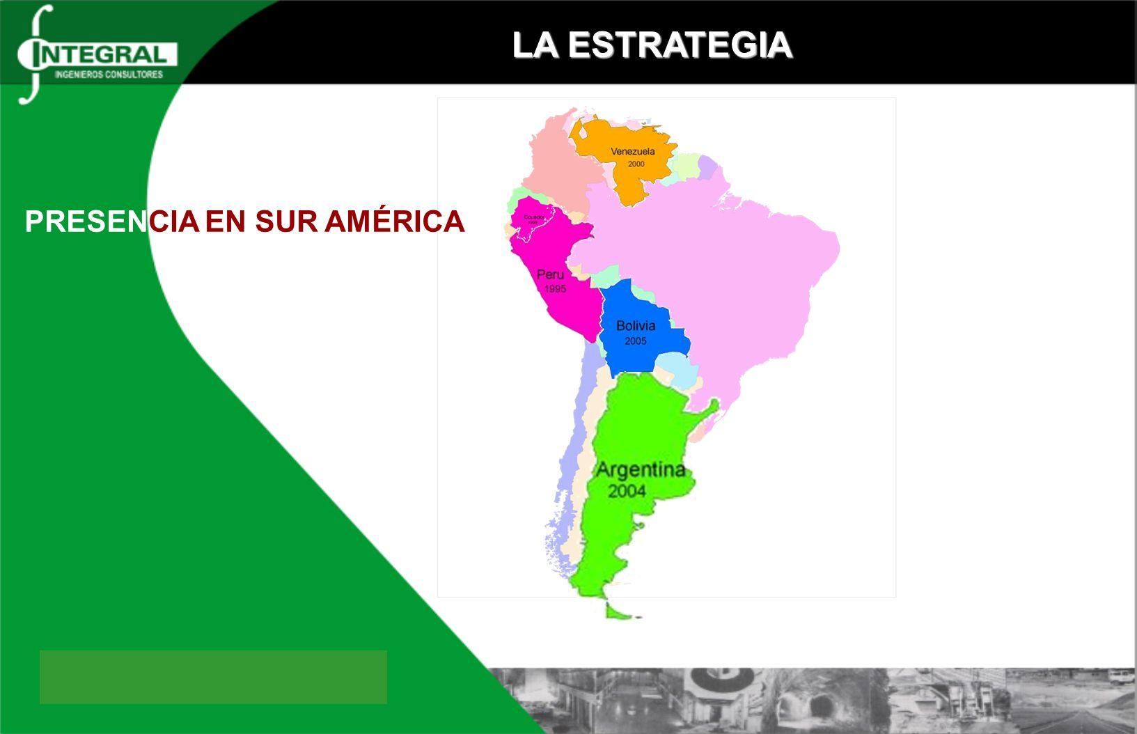 LA ESTRATEGIA PRESENCIA EN SUR AMÉRICA