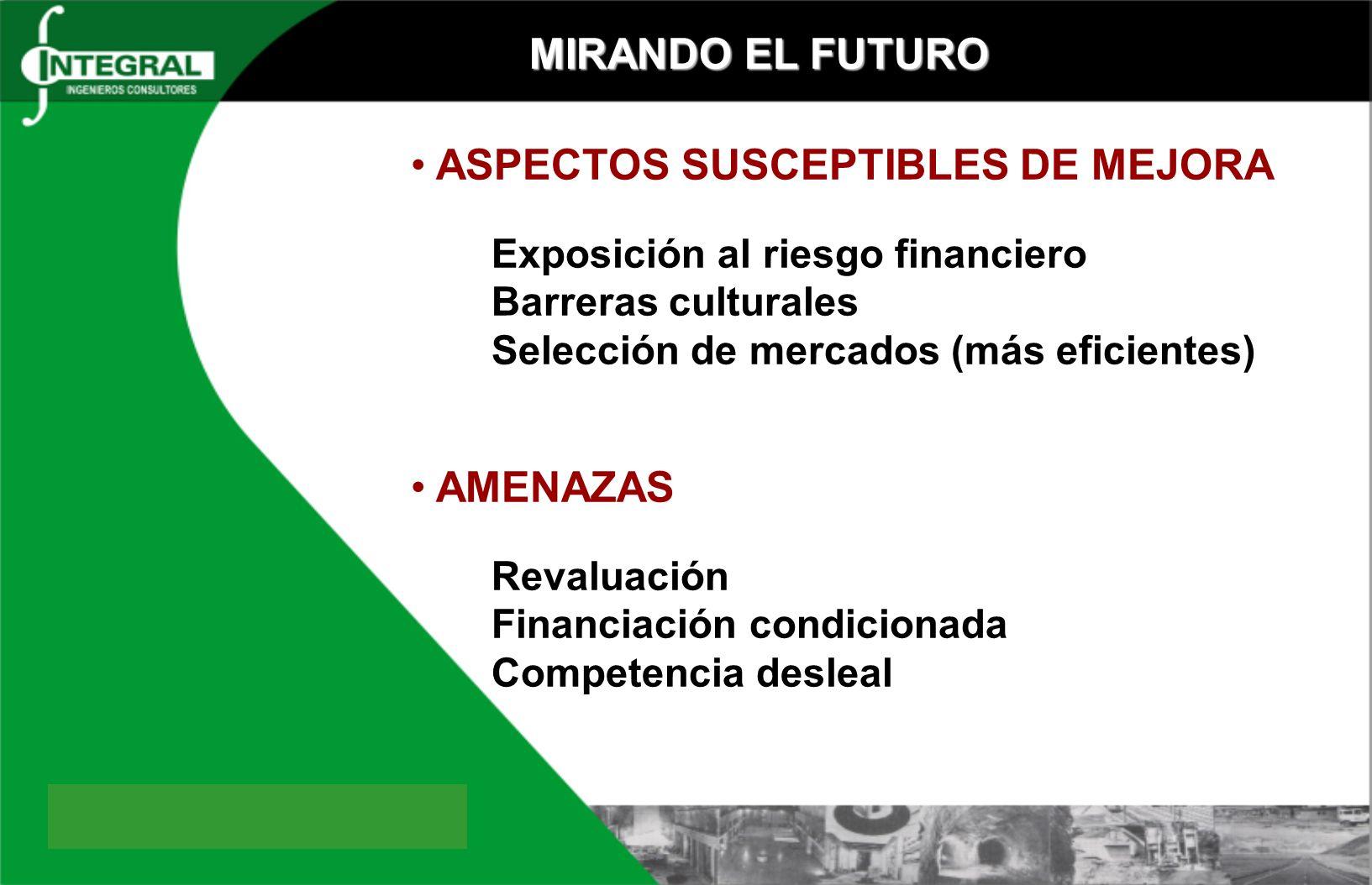ASPECTOS SUSCEPTIBLES DE MEJORA
