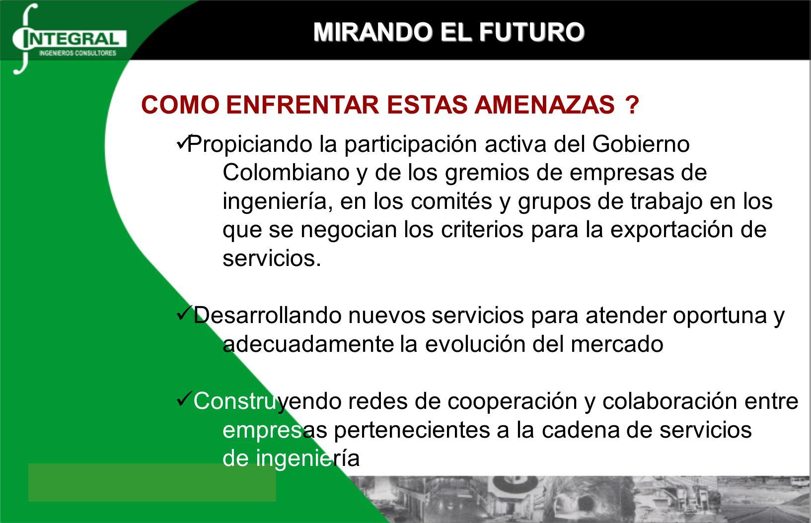 MIRANDO EL FUTURO COMO ENFRENTAR ESTAS AMENAZAS