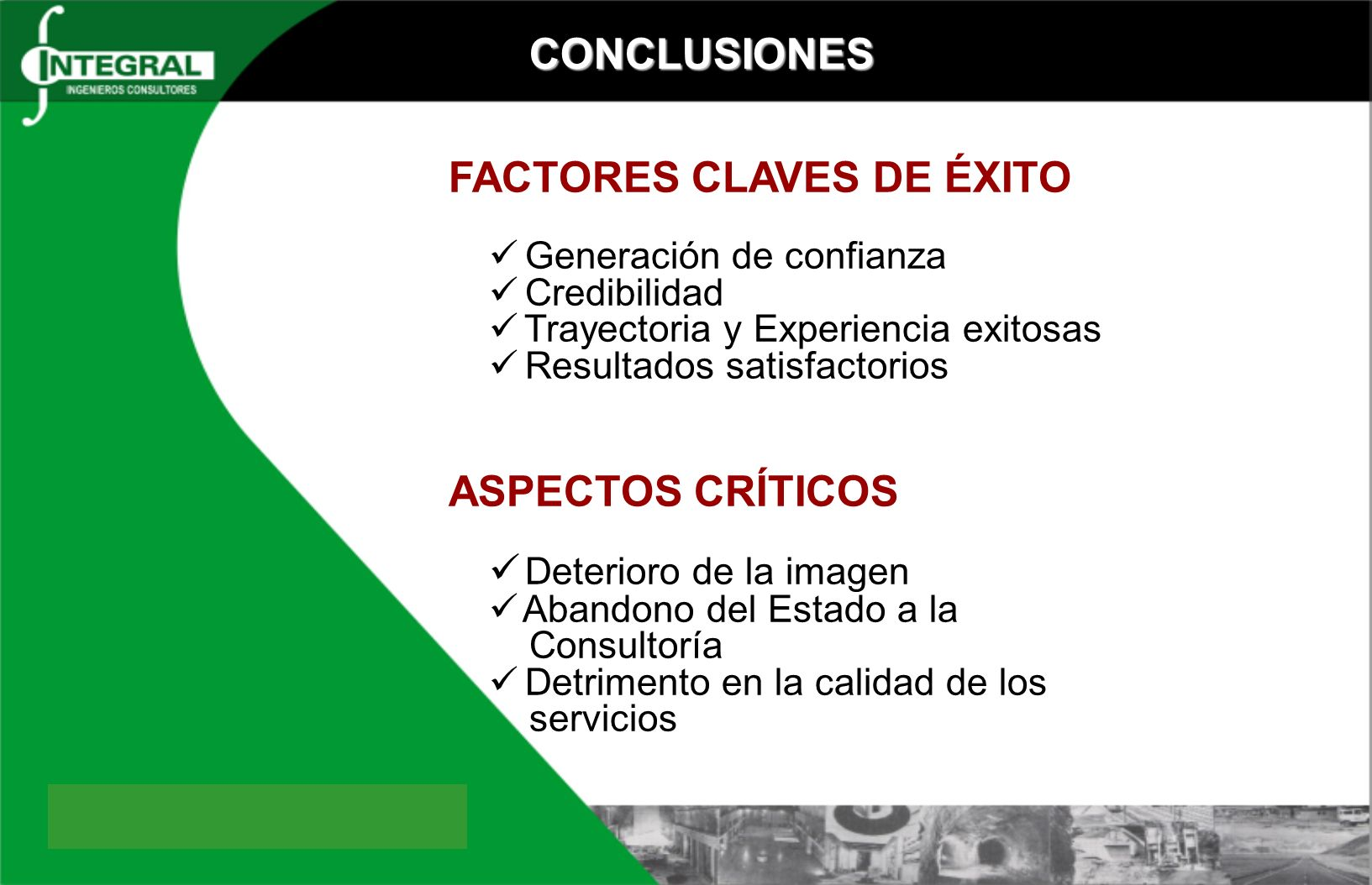 FACTORES CLAVES DE ÉXITO
