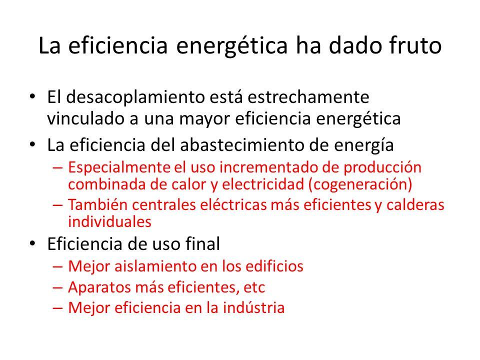 La eficiencia energética ha dado fruto