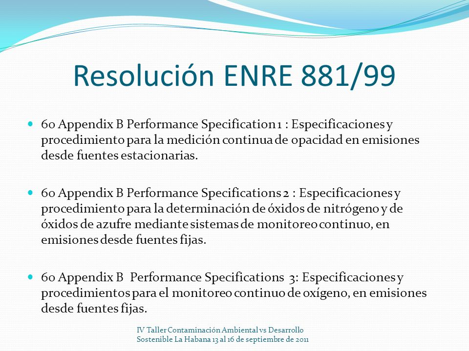 Resolución ENRE 881/99