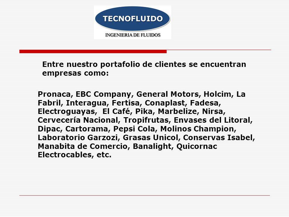 Entre nuestro portafolio de clientes se encuentran empresas como: