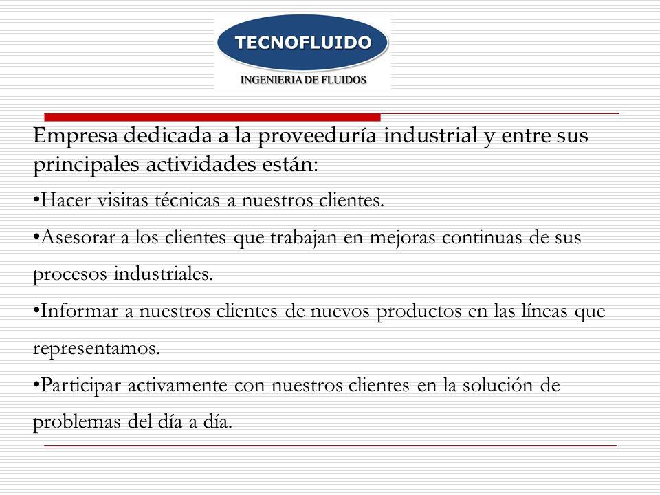Empresa dedicada a la proveeduría industrial y entre sus principales actividades están: