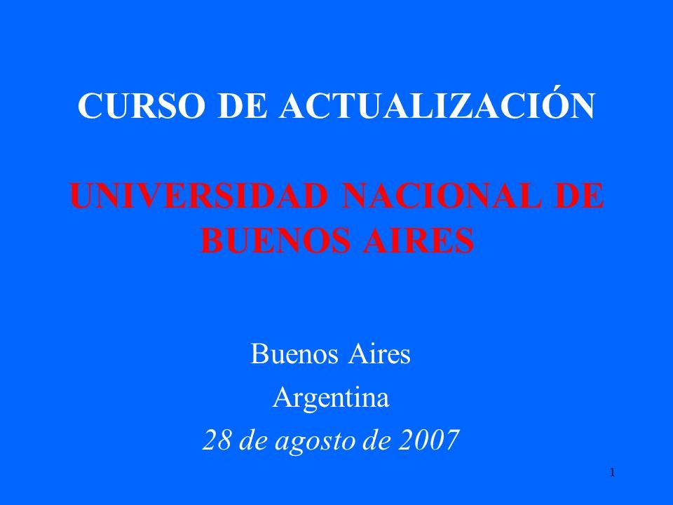 CURSO DE ACTUALIZACIÓN UNIVERSIDAD NACIONAL DE BUENOS AIRES