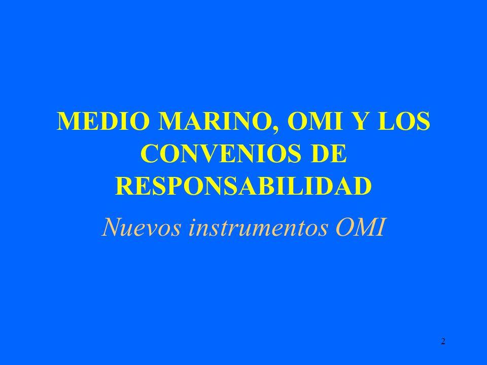 MEDIO MARINO, OMI Y LOS CONVENIOS DE RESPONSABILIDAD