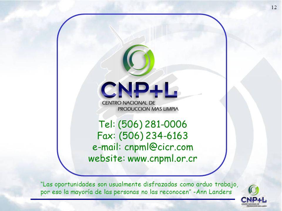 e-mail: cnpml@cicr.com website: www.cnpml.or.cr