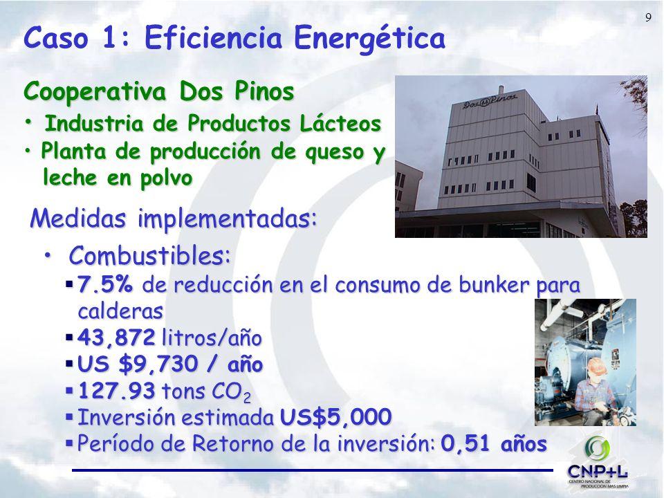 Caso 1: Eficiencia Energética