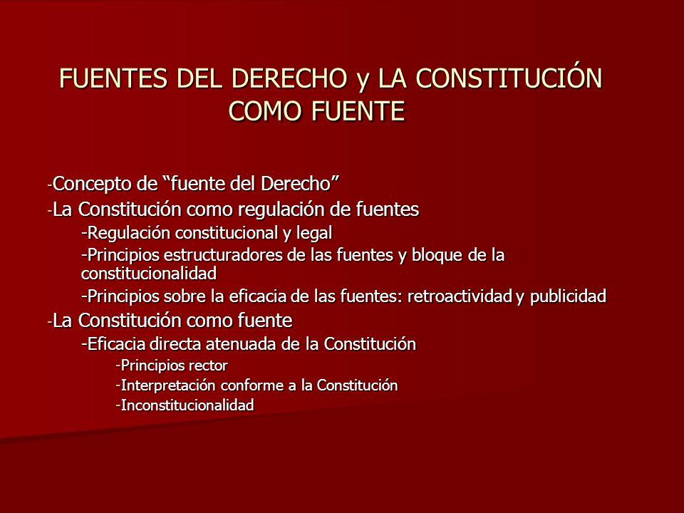 FUENTES DEL DERECHO y LA CONSTITUCIÓN COMO FUENTE