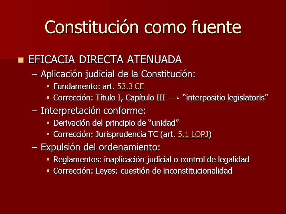 Constitución como fuente