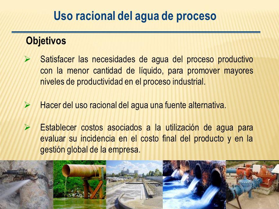 Uso racional del agua de proceso