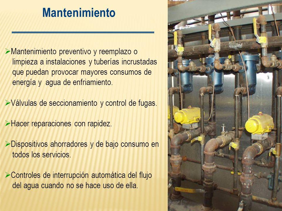 Mantenimiento Mantenimiento preventivo y reemplazo o