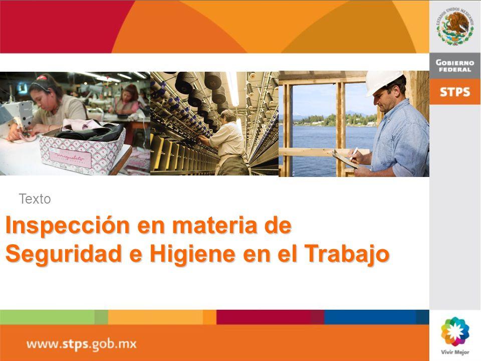 Inspección en materia de Seguridad e Higiene en el Trabajo