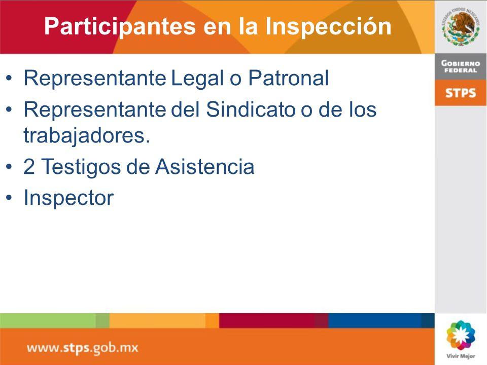Participantes en la Inspección