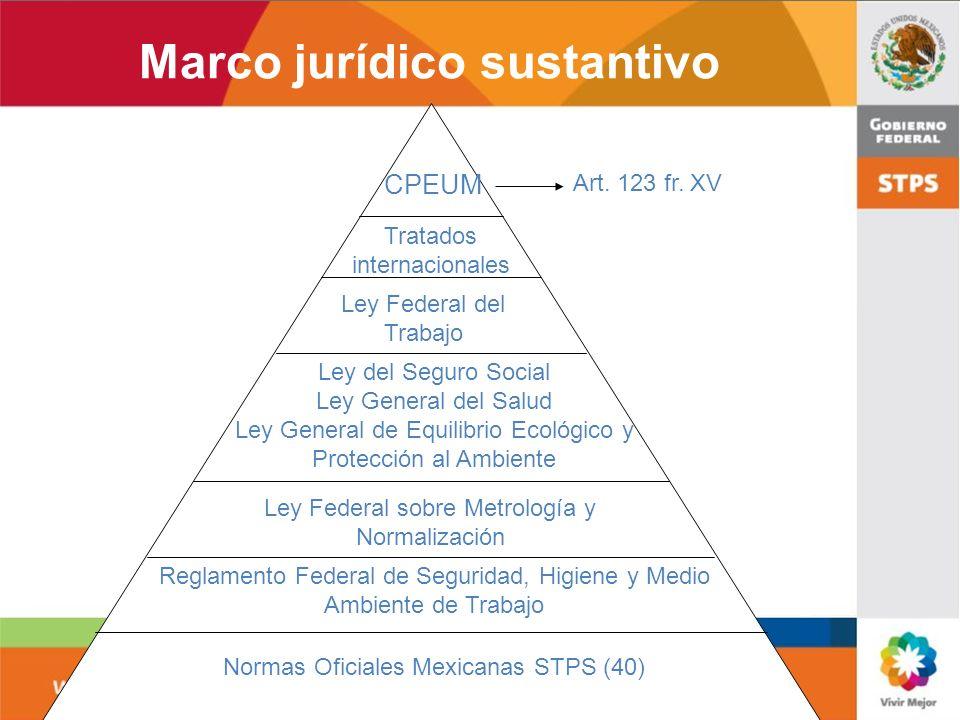 Marco jurídico sustantivo
