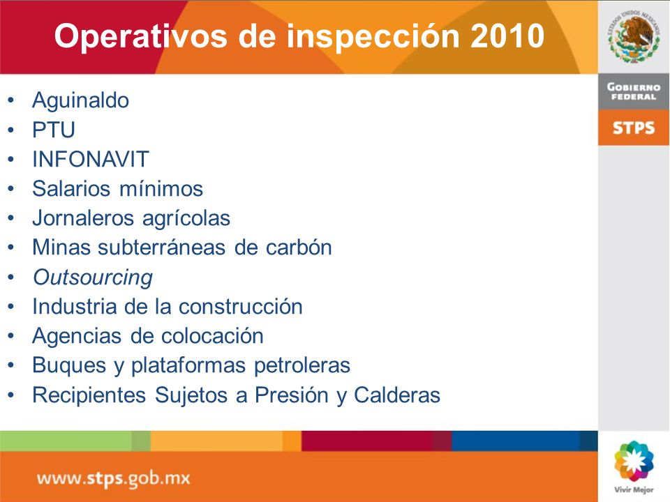 Operativos de inspección 2010